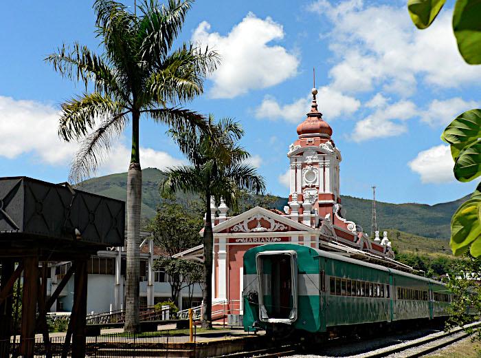 Foto van trein in station