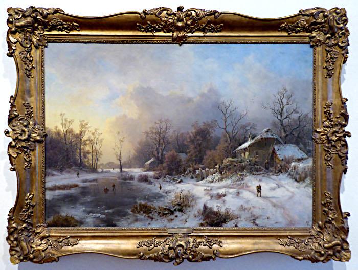 Foto van schilderij met winterlandschap