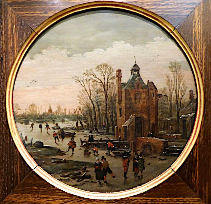 Foto van paneel met winterlandschap