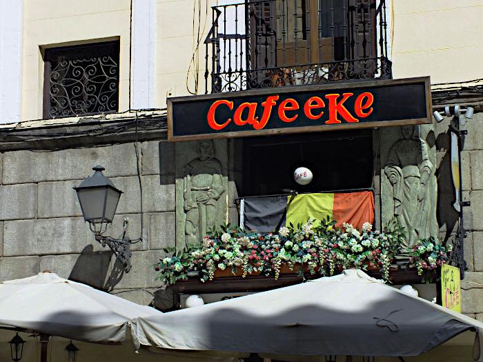 Foto van Belgisch café in Madrid