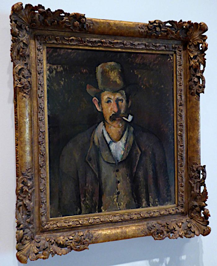 Foto van schilderij van met met pijp