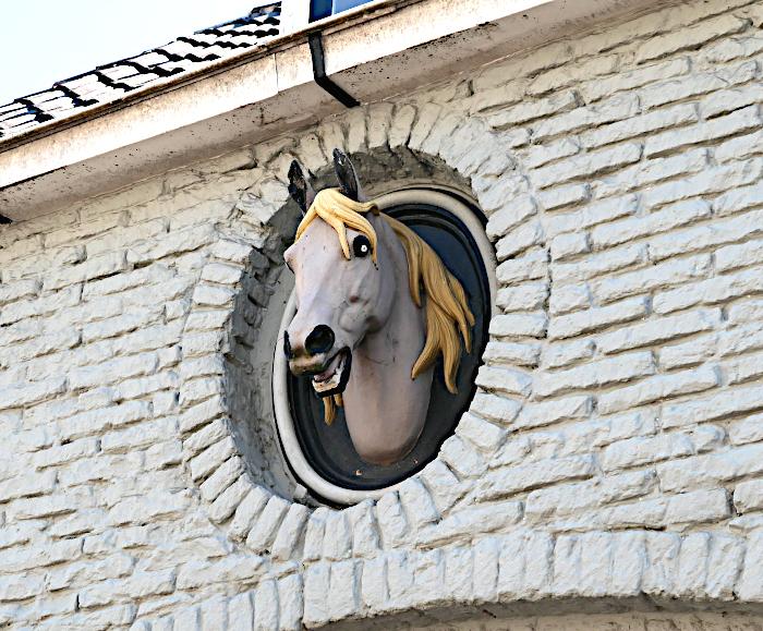 Foto van gevesteen met paard