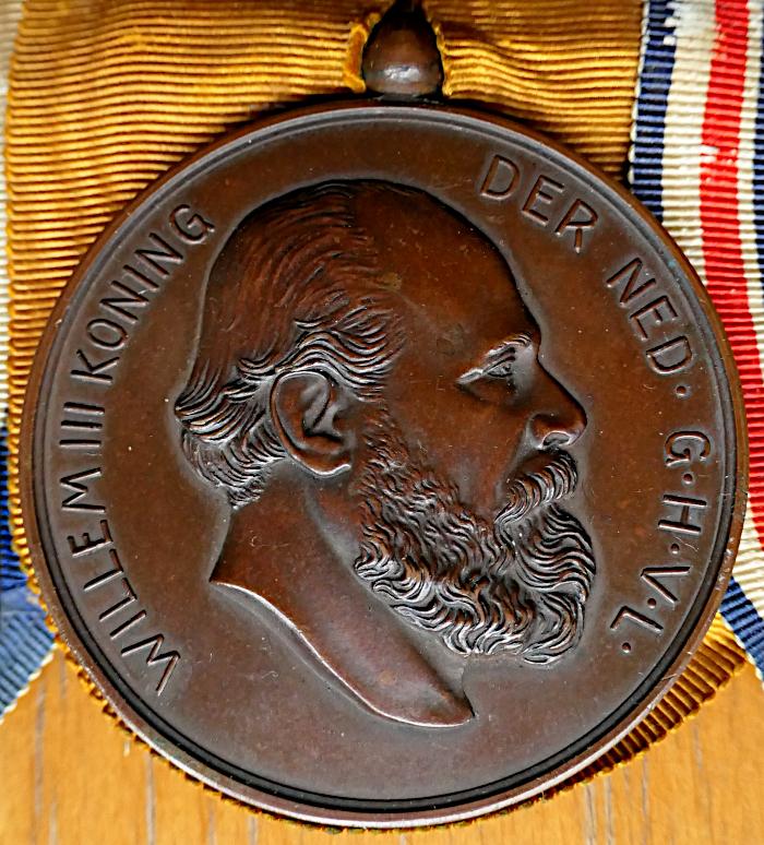 Foto van onderscheiding met Willem III