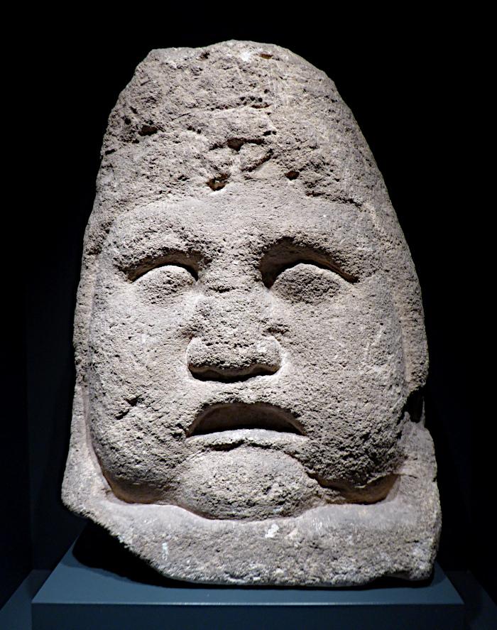 Foto van stenen masker