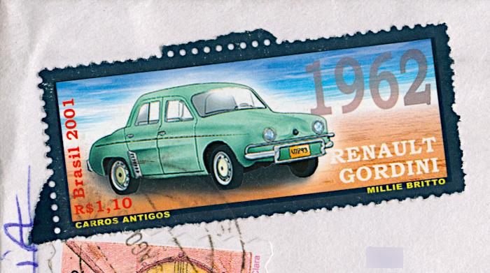Foto van postzegel met Renault